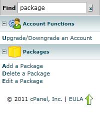 WHM Add Package